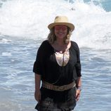Terelu Campos posando durante una jornada de playa en Marbella