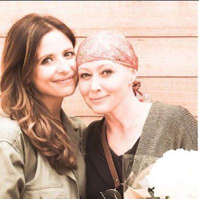 Sarah Michelle Gellar con  Shannen Doherty en instagram