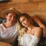 Ryan Lochte con Kayla Rae Reid el día de su cumpleaños