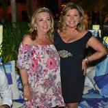 Terelu Campos y Carmen Borrego durante una fiesta en Marbella