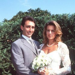 Estefanía de Mónaco y Daniel Ducruet el día de su boda