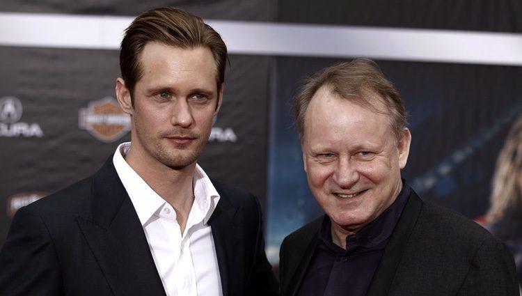Alexander Skarsgård  con su padre Stellan Skarsgård