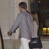 Los Reyes Felipe y Letizia tras cenar en un restaurante de Madrid