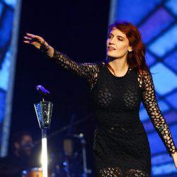 Florence Welch actuando en el Reading Festival en 2012