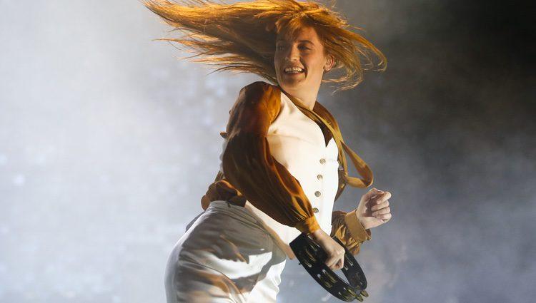 Florence Welch actuando en el festival Austin City Limits
