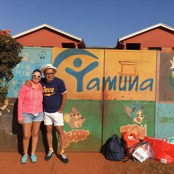 Silvia Abril y Andeu Buenafuente en un viaje benéfico