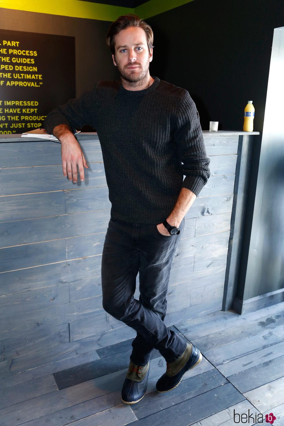 Armie Hammer haciendo un posado en el Festival de Cine de Sundance