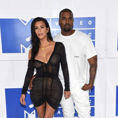 Kim Kardashian y Kanye West en los VMA's 2016