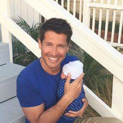 Jaime Cantizano con su hijo