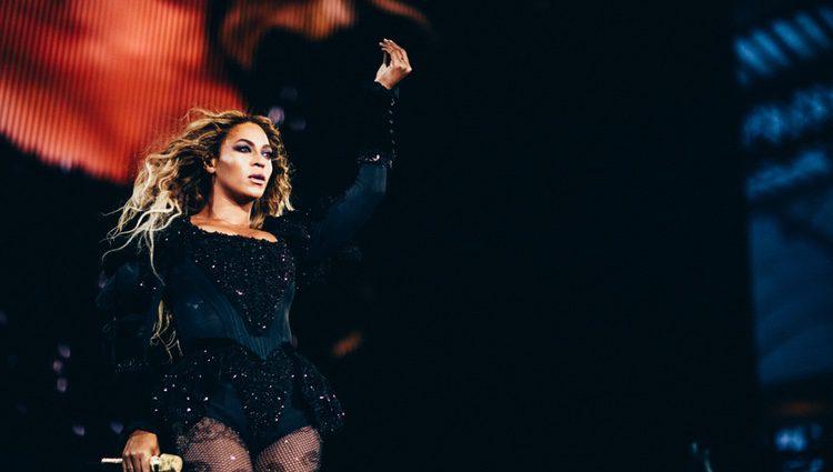 Beyoncé en un concierto ofrecido en Frankfurt