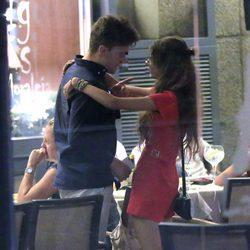 Alejandra Rubio y su novio en el 51 cumpleaños de Terelu Campos