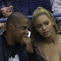 Beyoncé y Jay Z en el partido de Serena Williams en el US Open de Nueva York en 2016