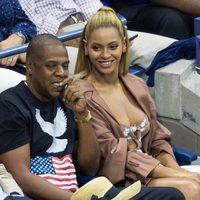 Beyoncé y Jay Z en el US Open de Nueva York en 2016