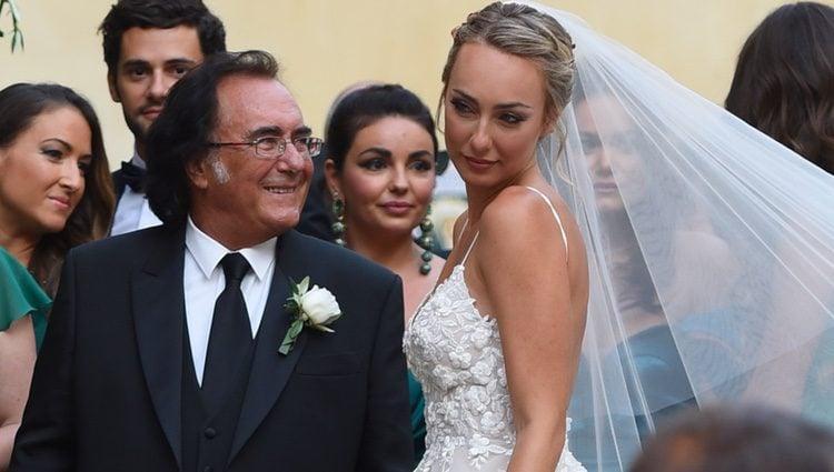 Albano Carrisi en la boda de su hija Carrisi Cristel