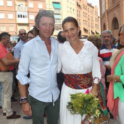 Colate y Samantha Vallejo-Nágera en la corrida de toros en homenaje a Víctor Barrio