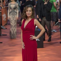 Marta Etura en la alfombra del estreno de la serie 'La Sonata del Silencio' en el Festival de televisión de Vitoria 2016