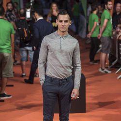 Joel Bosqued en la alfombra del estreno de la serie 'La Sonata del silencio' en el Festival de televisión de Vitoria 2016