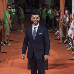 Fran Perea en la alfombra del estreno de la serie 'La Sonata del silencio' en el Festival de televisión de Vitoria 2016