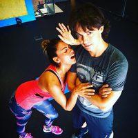 Lara Álvarez vuelve al gimnasio tras las vacaciones de verano en Bali
