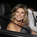 Terelu Campos llegando a la parrillada previa a la boda de Rocío Carrascto y Fidel Albiac