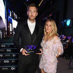 Calvin Harris y Ellie Goulding en los Premios GQ 2016 en Londres