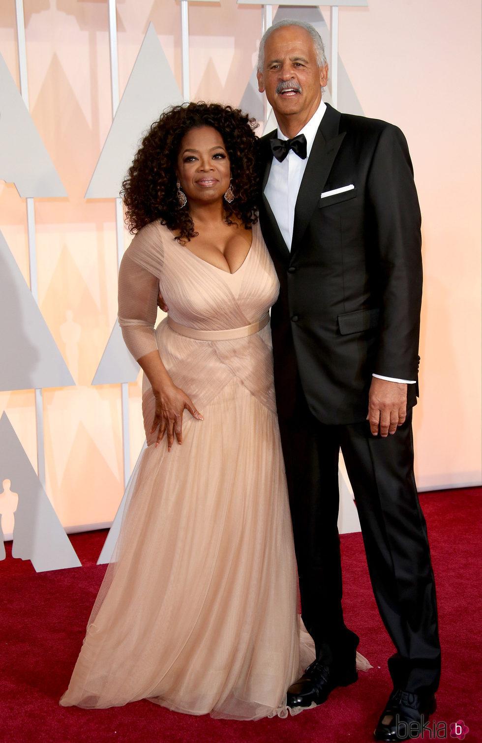 Oprah Winfrey y su pareja Stedman Graham