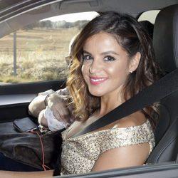 Marta Torné llegando a la boda de Rocío Carrasco y Fidel Albiac