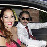 Chayo Mohedano y Andrés Fernández llegando a la boda de Rocío Carrasco y Fidel Albiac