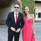 Chayo Mohedano y Andrés Fernández en la boda de Rocío Carrasco y Fidel Albiac