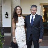 Roberto Arce y Cristina Vicente en la boda de Rocío Carrasco y Fidel Albiac
