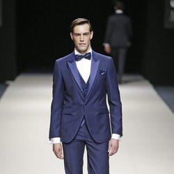 Miguel Herrera desfilando para Félix Ramiro en la Madrid Fashion Show Men