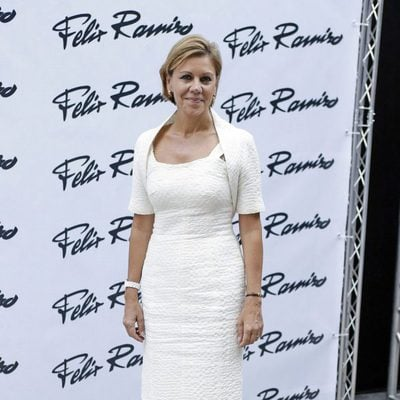 María Dolores de Cospedal en el desfile de Félix Ramiro en Madrid Fashion Show Men