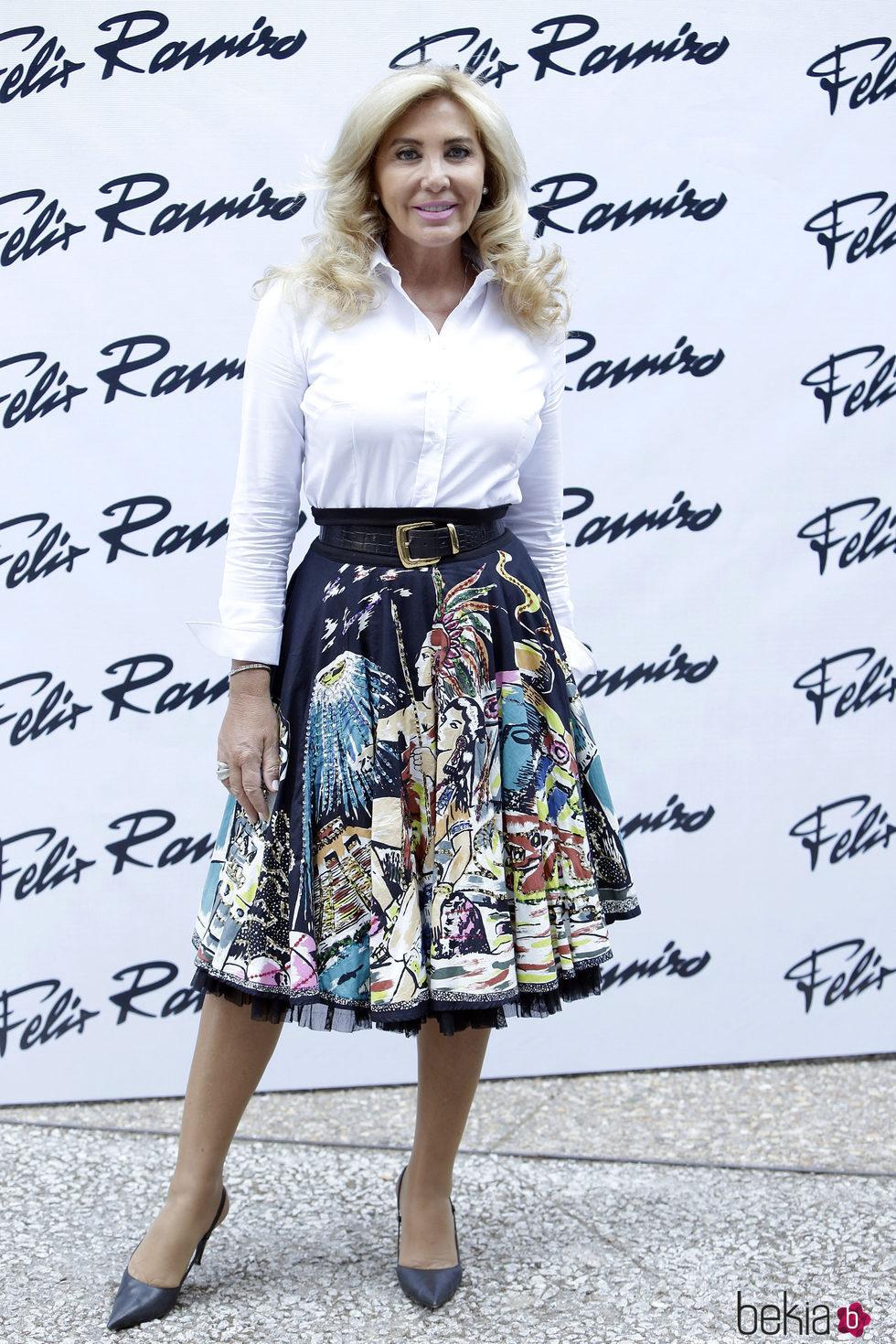 Norma Duval en el desfile de Félix Ramiro en Madrid Fashion Show Men