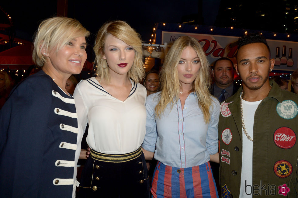 Taylor Swift junto a Lewis Hamilton