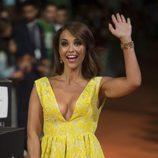Paula Echevarría saludando en el estreno de la cuarta temporada de 'Velvet' en el FesTVal de Vitoria 2016