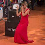 Cecilia Freire muy divertida en el estreno de la cuarta temporada de 'Velvet' en el FesTVal de Vitoria 2016