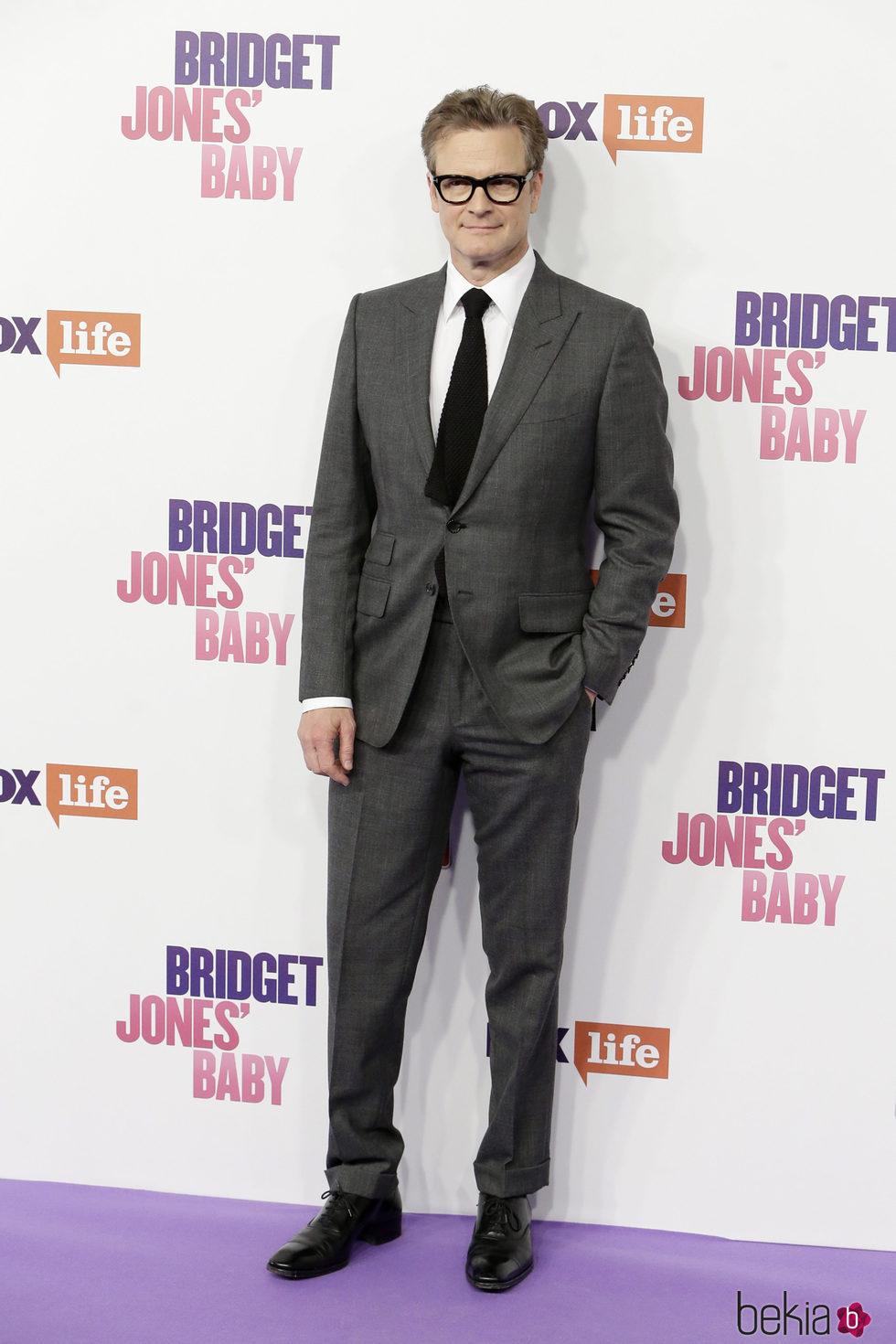 Colin Firth en el estreno de 'Bridget Jones' baby' en Madrid