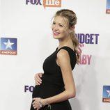 Carla Pereyra luciendo embarazo en el estreno de 'Bridget Jones' baby' en Madrid