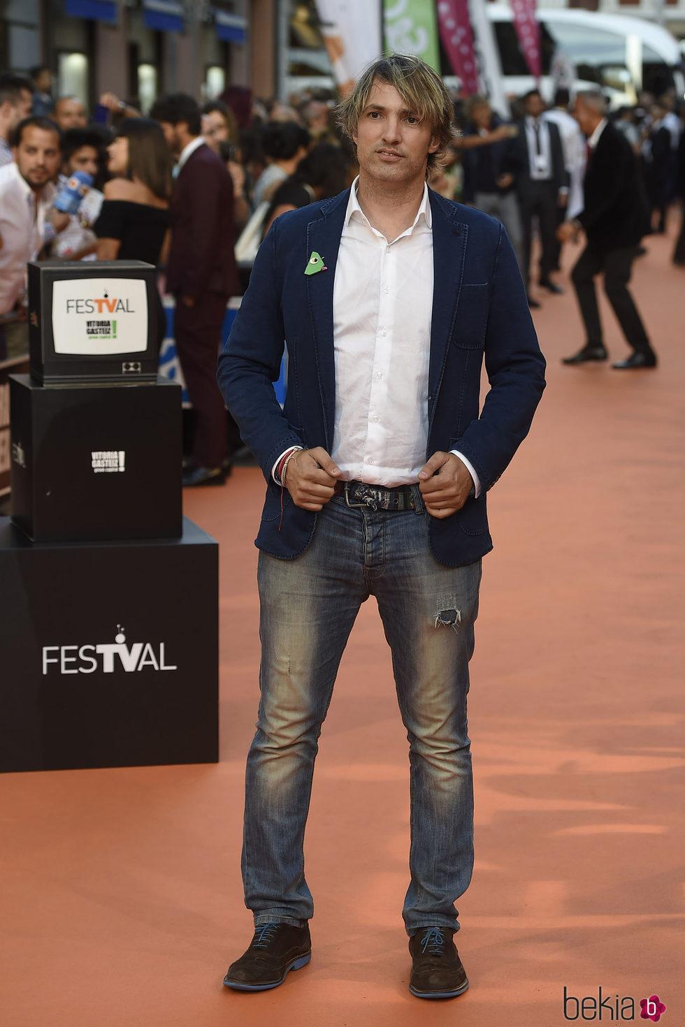 Ismael Beiro en la clausura del FesTVal de Vitoria 2016