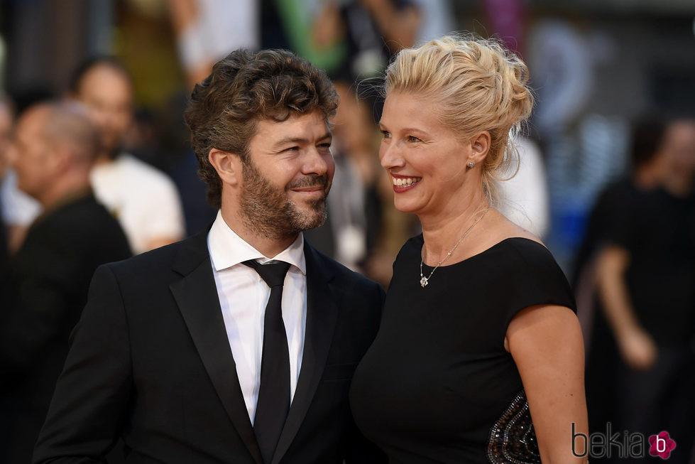 Pablo Heras-Casado mirando a Anne Igartiburu en la clausura del FesTVal de Vitoria 2016