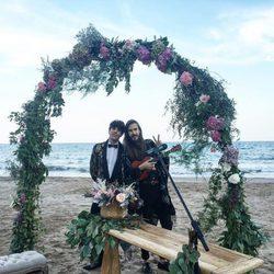 Javier Calvo y Carlos Sadness en la boda de Dulceida y Alba