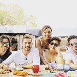 Javián, David Bisbal, Rosa López, Chenoa y David Bustamante posan en la misma foto