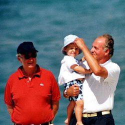 El Rey Juan Carlos, Froilán y Alberto de Bélgica en Mallorca