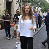 Miriam Ungría durante el funeral por María Antonietta Leoni en Madrid
