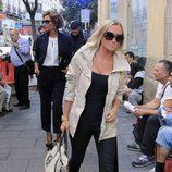 Naty Abascal durante el funeral por María Antonietta Leoni en Madrid