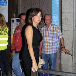 Ana Rosa Quintana durante el funeral por María Antonietta Leoni en Madrid