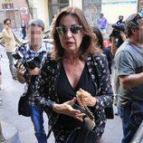 Carmen Martínez Bordiú durante el funeral de María Antonietta Leoni en Madrid