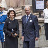 Los Reyes Carlos Gustavo y Silvia de Suecia en la Apertura del Parlamento 2016
