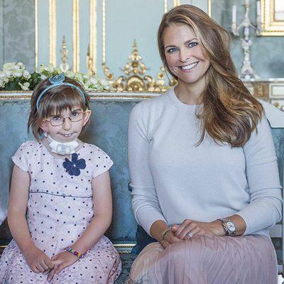 Magdalena de Suecia con una niña enferma en My Big Day