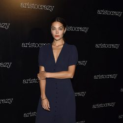Ana Rujas en el front row del desfile de Aristocrazy en Madrid Fashion Show Woman